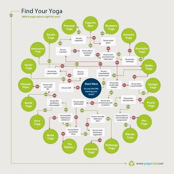 Find Your Yoga Style Infographic